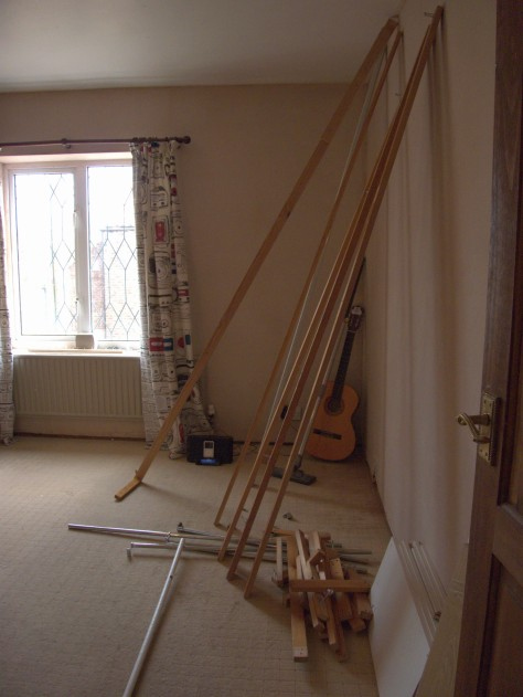 The interior structures of the wardrobe seen here will make a modified interior for the fitted wardrobes in our bedroom.