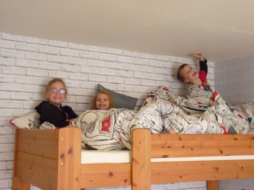 Oh well what can we say - the grandchildren love the bunkbeds - yay!!