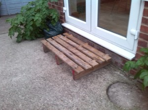 From pallet to platform - what a step up and it only took Chris 10 minutes. Thank you, darling.