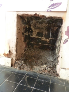 More shifting of fireplaces, hearths, tiles and lots of filth.