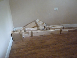 Not just a pile of debris - this is the winder on our stairs (hmmm, whoever knew you could wind stairs?)