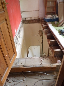 I do not advise stepping through that upstairs doorway! Ooops!