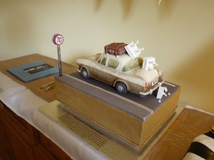 Probably the most memorable cake I have ever seen - a loving replica of Rick and Anne's Hillman Minx, complete with tumbling wedding cake as Rick drove off after the ceremony! Many thanks to Noel and Karen Wilson for this beautiful anniversary gift - it was perfect in every way.