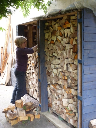 Oh yes - and stacked the wood-store!