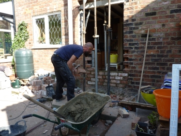 Door out, acrows up, bricks in!