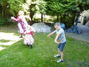 Grandchildren being jolly and not talking!