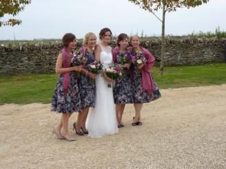 Beautiful bride and beautiful bridesmaids.