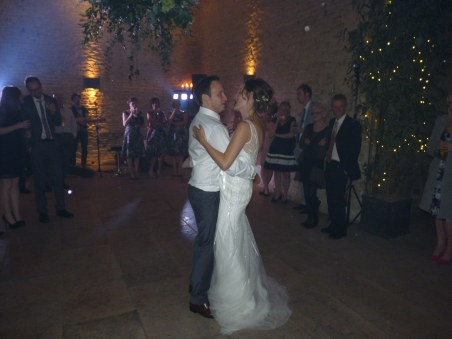 The happy pair's first dance together as a married couple. We wish them a long and happy marriage and that this moment will mark that start.
