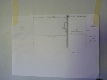 """AS my Mother always says """"You gotta have a plan."""" Well here it is. The start of our plans for converting one large bathroom into a house bathroom and an en-suite for the Heather Parry Guest Room."""