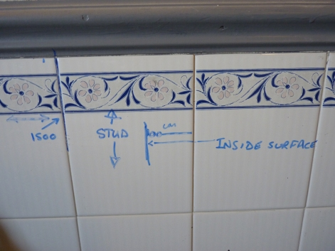 Careful measuring and VERY pleasurable drawing and writing on the walls! Tee hee!