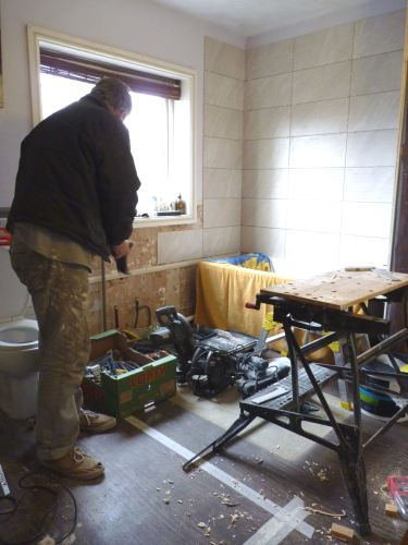 Just a few tools to make the new en-suite stud wall