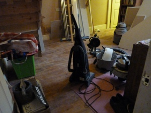 Now to tidy up the back room - dust, clean and wash the floor then we should be sorted. I bet I find a few more things to do!