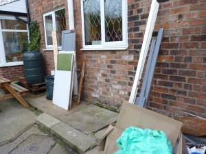 Chris has cleared most of the rubbish - see previous blogs! The man at the dump was very helpful, so thank you for making a horrible job so much easier.