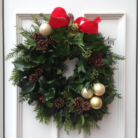 Festive magic - a handmade wreath using willow, yew, holly, fir and cones. Happy Christmas, everyone xxx