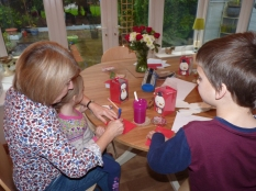 Making and writing Christmas cards - amazing how many friends the grandchildren have! Ho Ho Ho-w busy!