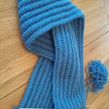 Knitting of scarf